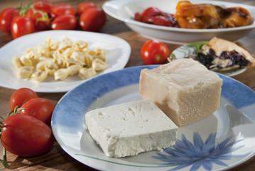 parmesan and feta cheese