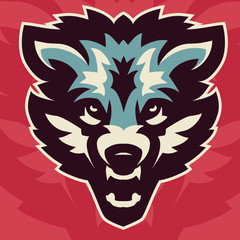 vector image of a coyote