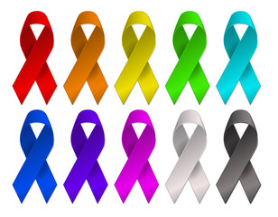 colors cancer awareness multi color ribbons
