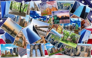 New York pictures collage
