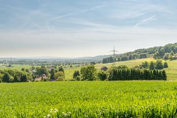 Landschaft in Minden, NRW, Deutschland