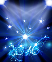 New Year 2016 celebration template easy all editable