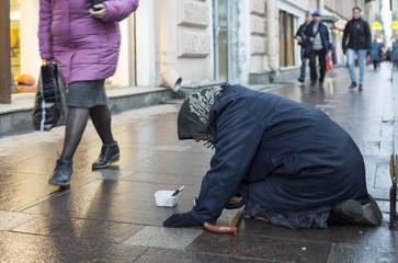 Beggar in Saint Petersburg