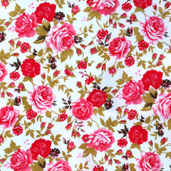 flowers fabric pattern background