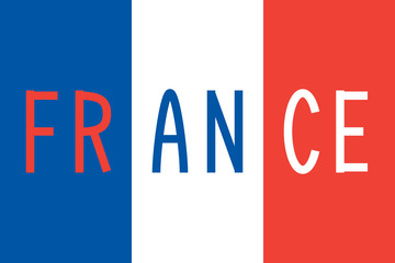 French flag and word France