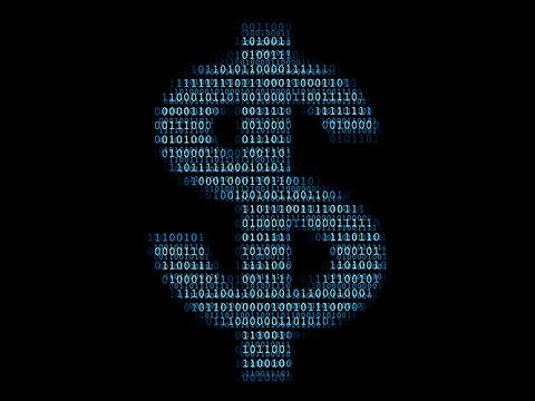 Digital dollar sign / Concept of e-commerce