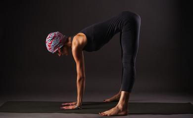 girl doing yoga and gymnastics
