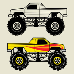 Race truck, vector