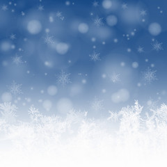 Snowflakes and stars background for winter
