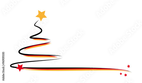 weihnachtsbaum schwarz rot gold stockfotos und. Black Bedroom Furniture Sets. Home Design Ideas