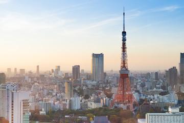 Foto auf AluDibond Tokio Tokyo Tower, Tokyo, Japan