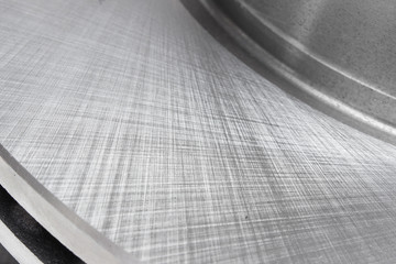 the texture of the metal brake disc
