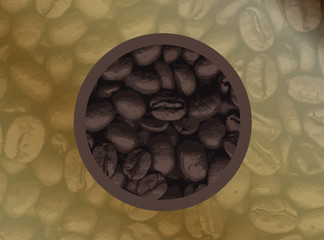 Circle Of Coffee Beans
