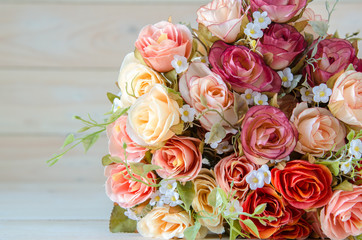 artificial rose and flower background