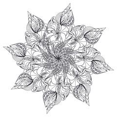 Vector Mandala, ethnic amulet