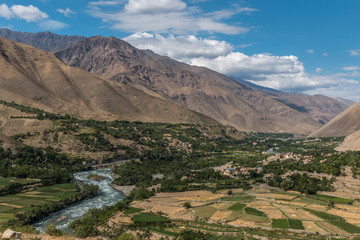 a view of afghanistan's panjshir valley