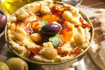 Hummus with olives