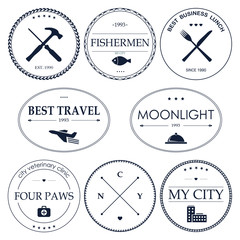 Set of vintage hipster logos