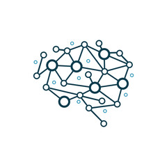 Modern Brain Dot Connection Intelligence Logo Template