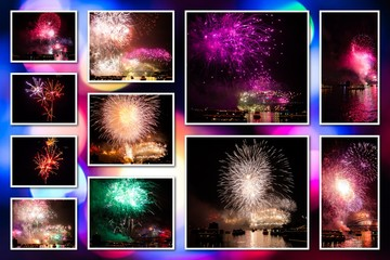 Fireworks pictures collage
