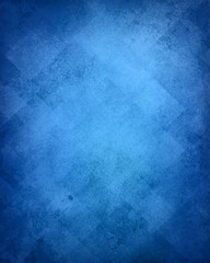 blue background with abstract pattern, faded retro texture with diamond blocks or diagonal rectangle shapes in faint elegant vintage design with old texture