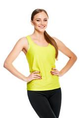 Aerobics fitness woman portrait