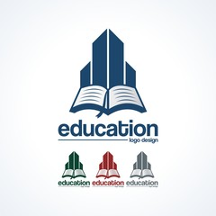 Building Learning With Book Logo Design