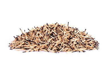 background of burnt matches