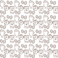 coffe seamless pattern