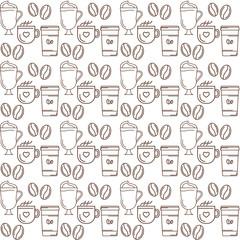 coffe seamless pattern