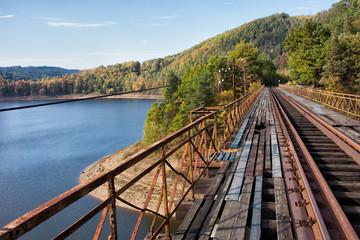 Old Railway Bridge Over Pilchowickie Lake In Poland