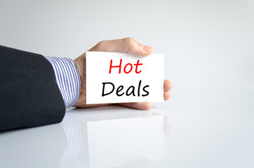 Hot deals text concept