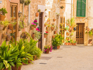 Entrancing alleyway of an picturesque old village