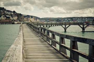 Walkway in the Port of Fecamp
