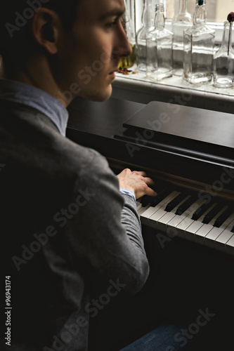 Handsome Man Photo With Piano 118