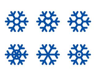 blue snowflake set
