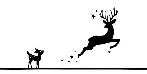Hirsch und Bambi