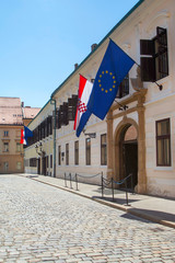 Palace of Croatian Government on St Mark's Square