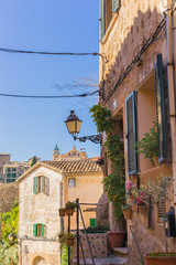 Beautiful view of an old mediterranean village at Spain