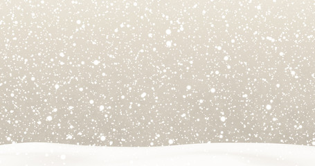 Snow on Beige Background
