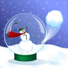 Golf Snow Globe