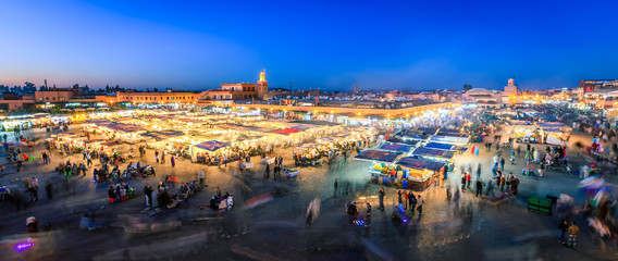 Canvas Prints Morocco Jemaa El Fnaa, Marrakesh