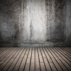 Empty dark abstract old interior background