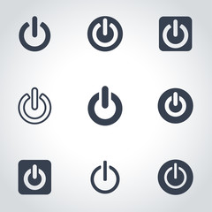 Vector black shut down icon set. Shut Down Icon Object, Shut Down  Icon Picture, Shut Down Icon Image - stock vector