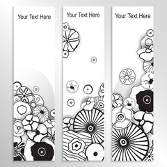 Poppy Design Banners in White and Black.