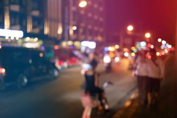 blur traffic with bokeh