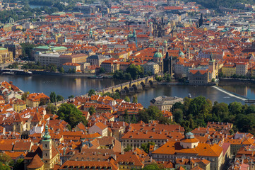 Views Over Prague From The Height Of Petrin Hill