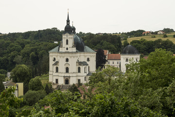 Pilgrimage Church and monastery in Krtiny village, Czech Republic