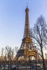Eiffel Tower view at sunset, Paris