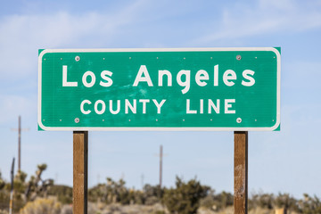 Los Angeles County Line Sign